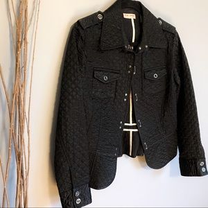 Macy's i.e. relaxed Black Quilted Blazer Jacket